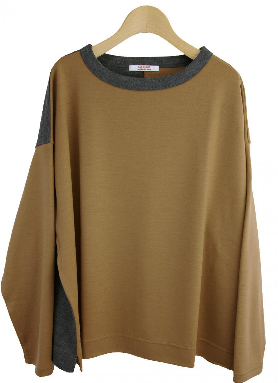 wasable wool crew neck tops